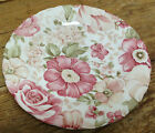 1 Nikko Salad or Dessert Plate Summer Glade Pink Roses Floral Overall Chintz FUN