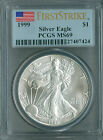 1999 SILVER EAGLE PCGS MS69 FIRST STRIKE FINEST REGISTRY LOWEST PRICE EVER