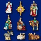 NATIVITY COLLECTION BOXED SET OF 9 OLD WORLD CHRISTMAS GLASS ORNAMENTS 14020