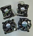 Lot of 4 Intel CPU Heatsinks with Cooling Fans Models C91300 D34052 C91249