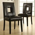 TRIBECCA HOME Mendoza Black Keyhole Back Dining Chair