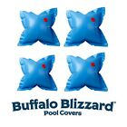 Buffalo Blizzard 4 Pack 4 x 4 Swimming Pool Winter Air Pillows 22 Gauge