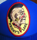 WRIGHTS LAKE vtg trucker cap Native American patch Mohawk snapback hat BSA