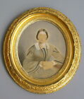 Antique Aesthetic Victorian Gold Gilt Oval Picture Frame Portrait of 28 yr 10~12