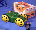 Vintage Original FLIPPING BATTERY POWERED ARMY TOY Tank in Old Box 1960s NOS