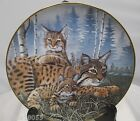 The Porcelain Gallery Bob Lynx Cats Collector Plate *