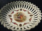 Antique Germany Reticulated Trinket Tray  Dish Courting Couple Marked