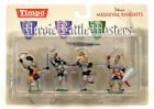 MIB Toy Soldiers TIMPO Painted Medieval Knights 1/32 Scale 4 Piece Set 43105-3