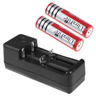 2pcs Ultra Fire 5000mAh 18650 Battery 3.7V Li-ion Rechargeable + Auto Charger