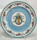 Ovington Bros. Fabruque a Limoges Plate Pink/Blue Flowers In A Basket