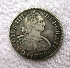 PERU 2 REALES SILVER COIN IN XF CONDITION 1792 LIMA MINT 28 MM AND WEIGHS 6.62 G