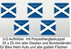 5 x 3 D Scotland Flag Car Caravan Bike Bicycle mobile phone LaptopQ Sticker