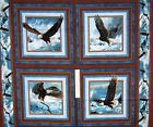 Wild Wings Fabric Panel - Quest of Hunger Eagle Pillowcase Springs OOP 34