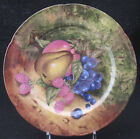 ROCHARD STILL LIFE SCALLOPED SALAD PLATE LIMOGES FRANCE PEAR GRAPES RASPBERRIES