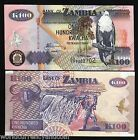 ZAMBIA 100 KWACHA P38 2010 BUNDLE BIRD BUFFALO VICTORIA FALL UNC AFRICA 100 NOTE