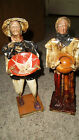 Set of 2 Mexican Paper Mache Figurines..Old People  Los Cabos San Lucas