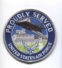 USAF UNITED STATES AIR FORCE PROUDLY SERVED JACKET SQUADRON PATCH