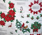 VIP Cranston Christmas Greenery sewing fabric panel wearable art appliques bows