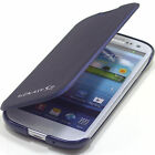 Samsung Galaxy S3 III i9300 Leather Flip Case Cover Pouch Card Holder TF-Navy