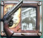 Old West Picture Frame Gun, Bullets Western Cowboy Billy The Kid Wanted Poster