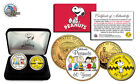 PEANUTS CHARLIE BROWN&GANGS-60 YEAR CELEBRATE 2 COIN 24K Gold USA COIN SET