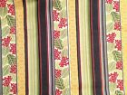Crafts Sewing Fabric Red Rooster Nordic Visions (4315) Flowers Stripes BTY