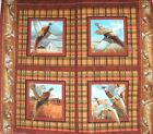 1 Yd Springs Wild Wings Quilt Fabric Crested Ringneck Pheasant Pillow Panel Flaw