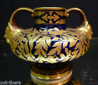 CROWN DERBY COBALT VASE--DECORATED IN GOLD--EARLY CROWN MARK--LOVELY