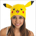 Nintendo Pokemon Pikachu Beanie Cap Hat With Ears Costume Cosplay OFFICIAL NEW