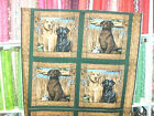 1 Yd. Wildlife Pillow Panel Quilt Fabric Hunting Dogs Grass Hunting Cat tails