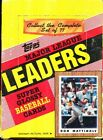 1987 TOPPS LEADERS MINI GLOSSY BASEBALL BOX
