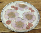 Denby Gypsy Stoneware Lavender Purple Pink Stylized Flowers Floral Dinner Plate