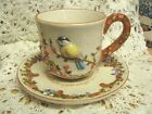 Pretty Cup and Saucer with Bird Design