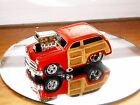 MUSCLE MACHINES FORD WOODY FROM BUILD IT KIT DIE CAST CAR 1/64 BURNT ORANGE