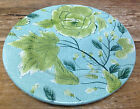 Vintage Florals Ambiance Green Leaves Texture Turquoise Blue Salad Dessert Plate