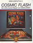 COSMIC FLASH NSM-LIONS ORIGINAL 1985 PINBALL MACHINE SALES FLYER BROCHURE SCARCE
