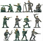 WWII Toy Soldiers Russian Infantry 12 Piece Set Painted Plastic 1/32 54mm