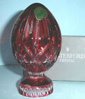 Waterford Lismore Pink Crystal Egg Collectible Easter New