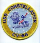 CV-64 CVA-64 USS CONSTELLATION NAVY AIRCRAFT CARRIER SHIP SQUADRON PATCH