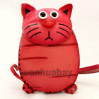 Red Genuine Leather Handmade Cat Money Coin Purse Wallet Kid Women's Lady P ZP18
