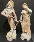 Stunning Antique German Porcelain Figurines.Depicting 18Th C Royalty.Gent/ Sword