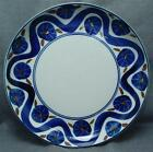 RARE Dansk Cobalt Blue Wave Brown Large Round Serving Dish Bowl Platter 13