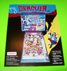 DRACULA By STERN 1979 ORIGINAL NOS PINBALL MACHINE ADVERTISING FLYER BROCHURE