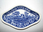 blue transferware AS IS toile SPODE TOWER diamond shaped DISH PLATTER Copeland