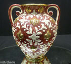 HIGHLY DECORATED VASE--BELGIUM MAKE--FRENCH DESIGN--FLEUR DE LIS--SIGNED--BIN!
