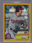 2014 Topps Chrome Gold Refractors #62 Zach Walters RC Rookie 06 50
