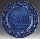ENOCH WOOD DEEP BLUE TRANSFERWARE PLATE, East View La Grange Lafayette, 1818-46