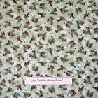 Christmas Fabric - O Snowy Night Pine Cone Bough Toss Green - Red Rooster YARD