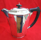 A VINTAGE HARD SOLDERED SHEFFIELD SILVER PLATED EPNS STYLISH COFFEE POT