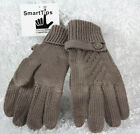 Smart phone tips texting gloves touchscreen compatible taupe cable knit classic